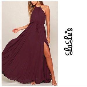 Lulus Essence Of Style Plum Maxi Dress
